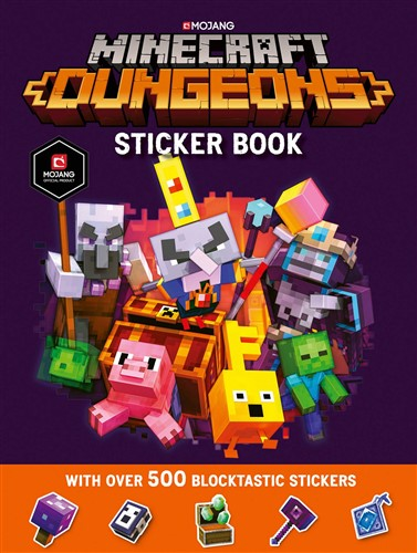 Minecraft Dungeons Sticker Book